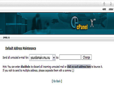 Default address screencap