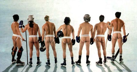bare butt hockey players photo